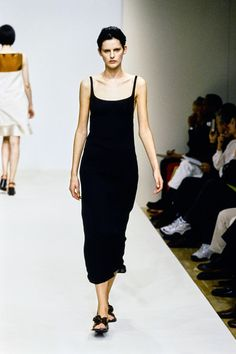 Everything Old Is New Again: Prada Spring 1996 Ready-to-Wear Fashion Show - Kristen McMenamy. Still looking perfect!