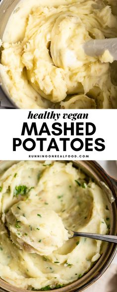 These amazing, healthy vegan mashed potatoes are completely oil-free and made without butter or cream. The recipe is low-fat and makes a delicious addition to Thanksgiving, Easter and Christmas dinner or any other holiday meals. Vegan Mashed Cauliflower, Vegan Mashed Potatoes, Mashed Potato Recipes, Potato Snacks, Vegan Christmas Dinner, Vegan Thanksgiving, Easter Dinner, Easter Food, Easter Eggs