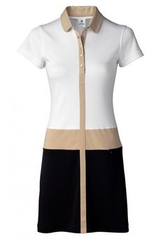 Daily Sports Ladies & Plus Size Leyla Short Sleeve Golf Dress - NATURAL ELEGANCE (White)