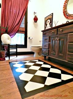"""Painted """"rug"""" on hardwood floors"""
