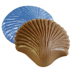 Chocolate sea shells in milk & dark for wedding favors.  www.LakeChamplainChocolates.com