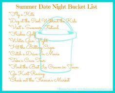 Summer Date Night Bucket List