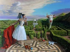 """Echo of Misconceptions"" - surreal painting by Michael Cheval"
