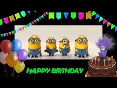 Happy Birthday Greeting from Minions. Free online Happy Birthday to you! Minions ecards on Birthday Happy Birthday Minions, Happy Birthday To You, Funny Happy Birthday Song, Birthday Songs, Happy Birthday Greeting Card, Birthday Images, Minion Birthday Quotes, Minions Singing, Guitar Songs