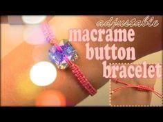 DIY Tutorial: Bracelets / DIY Adjustable Macrame Button Bracelets - Bead&Cord