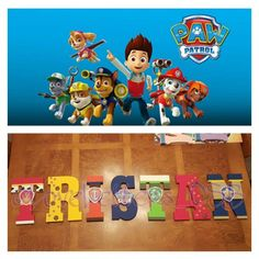 Paw Patrol Painted Letters! ! Follow me on IG  @LoveLetters_CSB