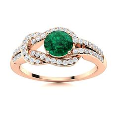 This knot Emerald ring in 14k Rose Gold denotes the everlasting tie between you and your loved one. Add a stone of your choice or even a birthstone to make this ring even more personal and special We only use Natural AAAA Emeralds which are the top 15% of all real / genuine Emeralds available. Natural Emerald Rings, Love Ring, Emeralds, Shades Of Green, Vintage Rings, Ring Designs, Tea Party, Knot, Sapphire