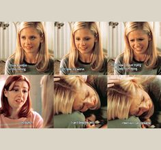 """""""I feel like I can't breathe."""" The Prom - This scene physically pained me, I was just as heartbroken over Angel as Buffy."""