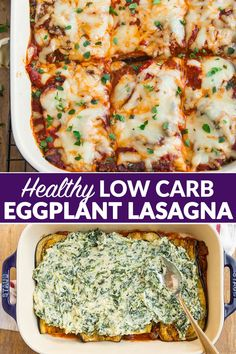 A tasty classic Eggplant Lasagna recipe made with roasted eggplant slices and without noodles. Comforting cheesy keto and low carb. You wont miss the pasta! Low Carb Recipes, Cooking Recipes, Healthy Recipes, Healthy Eggplant Recipes, Keto Eggplant Recipe, Low Carb Vegetarian Recipes, Healthy Eggplant Parmesan, Aubergine Recipe Healthy, Recipes With Eggplant