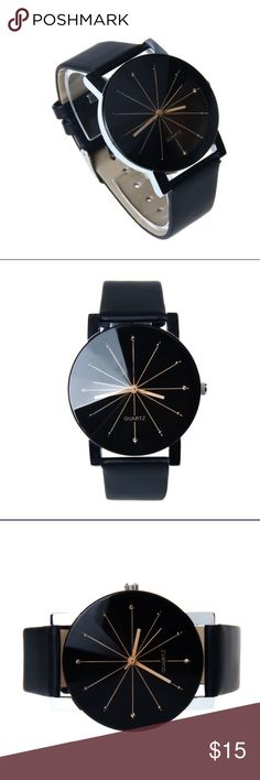 ⚜️Black Watch⚜️ Black quartz watch for men. Accessories Watches