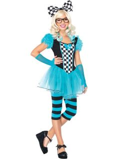 Teen Girls Hipster Alice Costume - Party City