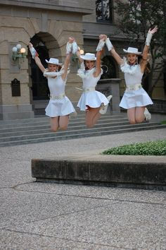 This was a pic from drill team officer photos so I know it's not a roommate picture, but I like the idea of taking a jumping photo (: (Taken in Academic Plaza, at Texas A & M).