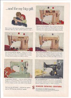 Singer Sewing Machine Ad-Good Housekeeping December, 1959