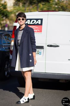 Eva Geraldine Fontanelli Street Style Street Fashion Streetsnaps by STYLEDUMONDE Street Style Fashion Blog