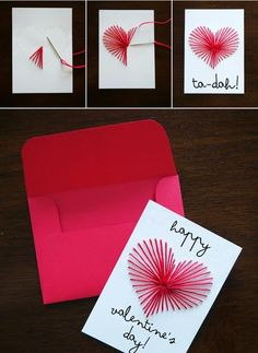 Do It Yourself Projects - Valentine crafts with Louis - Valentinstag Mothers Day Crafts, Valentine Day Crafts, Do It Yourself Projects, Heart Cards, Valentine's Day Diy, Diy Crafts For Kids, Diy Art, Diy Gifts, Indian Makeup