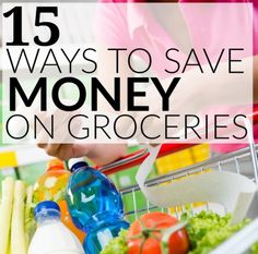 Read these 15 ways to save money on groceries to help lower your food budget. You may not realize how easy it actually is to save money on food every time you go shopping. Click to find out some of the best tips on saving money on food you are already buying!
