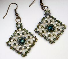 Filet Square Earrings by River Valley Designs