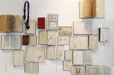 great idea – reads (no pun intended!) as an art installation, not a jewelry display
