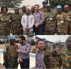 Ghanaian actor majid michel turned pastor and was invited to preach to the Army at the United Nations Misson in Congo (Photo)