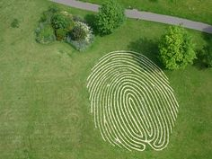 Fingerprint labyrinth - very creative!