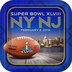 Super Bowl Banquet Plates for Super Bowl 48