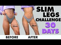 SLIM AND LONGER LOOKING LEGS WORKOUT (Results In 30 Days)   Tone Your Thighs And Lose Fat At Home - YouTube Fitness Quotes Women, Fitness Workout For Women, Body Fitness, Fitness Workouts, Easy Workouts, At Home Workouts, Fit Quotes, Butt Workouts, Slim Legs Workout