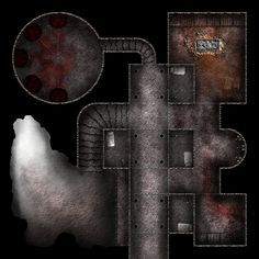 Undercity tower Prison jail cells tower cave exit story by thatDMan med Dungeon Tiles, Dungeon Maps, City Background, Background Pictures, Prison, Underground Map, Dragon Rpg, Jail Cell, D&d Dungeons And Dragons