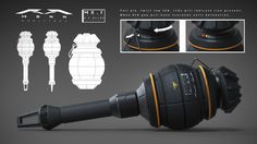 Cosplay Weapons, Sci Fi Weapons, Weapon Concept Art, Weapons Guns, Fantasy Weapons, Future Weapons, Futuristic Art, Fantasy Landscape, Firearms