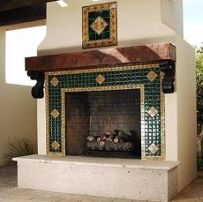 Spanish style homes – Mediterranean Home Decor Backyard Fireplace, Old Fireplace, Rustic Fireplaces, Fireplace Remodel, Fireplace Ideas, Wood Mantle, Spanish Style Homes, Spanish Revival, Spanish House