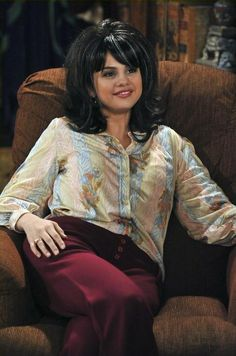 Selena Gomez On the set of Wizards Of Waverly place on a Wizards Of Waverly place episode.