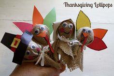 Trisha B Blog: Thanksgiving Lollipops