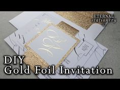 New Wedding Invitations Diy Gold Belly Bands Ideas Make Your Own Wedding Invitations, Budget Wedding Invitations, Diy Invitations, Wedding Stationery, Invites, Wedding Planner, Wedding Images, Wedding Cards, Diy Wedding