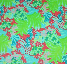 Lilly Pulitzer Corduroy Fabric Checking In  15 x 18 inches on Etsy, $11.49