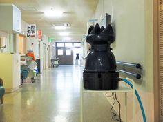 遠心式加湿器が特別養護老人ホームでのウィルス感染防止に活躍してます。 Central humidifier is uset at a nursing home for the aged to protect influenza infection.