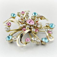vintage 1950s pink and blue jewelry - Google Search