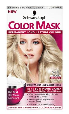 Schwarzkopf color mask 910 pearl blonde level 3 Schwarzkopf color mask 910 pearl blonde level 3 permanent hair colour: Express Chemist offer fast delivery and friendly, reliable service. Buy Schwarzkopf color mask 910 pearl blonde level 3 permanent http://www.MightGet.com/january-2017-11/schwarzkopf-color-mask-910-pearl-blonde-level-3.asp