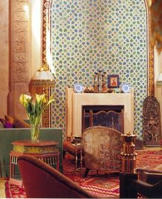 moroccan style wall decoration with moroccan tiles for modern living room design Modern Moroccan, Moroccan Design, Moroccan Tiles, Moroccan Decor, Moroccan Bedroom, Moroccan Lanterns, Turkish Tiles, Moroccan Furniture, Moroccan Interiors