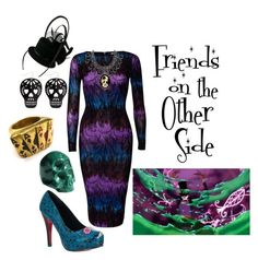 """""""Friends on the Other Side"""" by alsni ❤ liked on Polyvore featuring Disney, Glamorous, Iron Fist, Couture by Lolita and Shanka"""