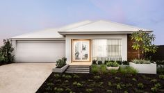 Welcome to The Watson - a stunning family home designed for lots. The striking modern elevation with rendered facade, stylish window with contrast render, feature timber cladding and Colorbond roof leaves a lasting impression.