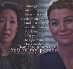 New quotes movie friendship greys anatomy Ideas - - Greys Anatomy Memes, Grey Anatomy Quotes, Grays Anatomy, Tv Show Quotes, Movie Quotes, Funny Quotes, Meredith And Christina, You Are My Person, Grey Quotes