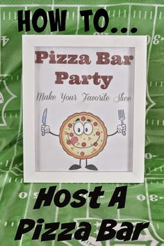Host a Pizza Bar Party Pizza Bar Party, Taco Bar Party, Pizza Party Birthday, Birthday Parties, 4th Birthday, Birthday Ideas, Mashed Potato Bar, Yummy Taco, Yummy Yummy