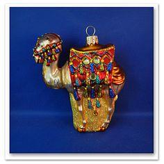 Camel religious zoo animal blown Glass Christmas Ornament Poland 011177