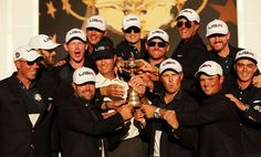 See the best images from the 2016 Ryder Cup from Hazeltine National Golf Club in Chaska, Minnesota. Ryder Cup 2018, Ryder Cup Team, Kobe Bryant, Davis Love Iii, Ryan Moore, Nba, Golf Events, Brooks Koepka, Justin Thomas