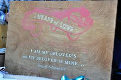 personalized sign by #ChocolateButterbean #wedding #scripture