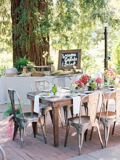 Table inspiration: http://www.stylemepretty.com/2015/04/06/whimsical-bright-summer-garden-wedding/ | Photography: Ryan Ray - http://ryanrayphoto.com/