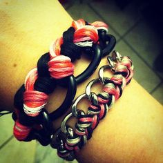 My new DIY armparty..What do you think of my black, pink, and chains?