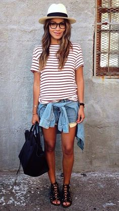7 Amazing Spring and Summer Outfits to pack now Casual Summer Fashion Style. Very Light and Fresh Look. The Best of summer outfits in Beauty And Fashion, Fashion Mode, Look Fashion, Passion For Fashion, Womens Fashion, Fashion Trends, Trendy Fashion, Fashion Bloggers, Trendy Style