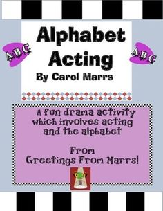 """"""" Students will love to help deliver the director's cue to start each classmate's scene in this drama activity. Drama Games For Kids, Drama Activities, Pre Reading Activities, Alphabet Games, Alphabet Letters, Theatre Games, Art Education Projects, Art Rubric, Teaching Channel"""