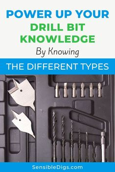 The right equipment is critical for pulling off a project successfully. We've got your back with our guide to the 20 types of drill bits you'll encounter. Beginner Woodworking Projects, Woodworking Workshop, Home Management, Basic Tools, Hanging Pictures, Drills, Fall Crafts, Book Format, Knowledge