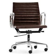 Design schreibtischstuhl  Vintage Stühle - 60er Jahre Schreibtischstuhl mit Chromfuss - ein ...
